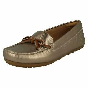 Dameo Swing Ladies Clarks Leather Slip On Loafer Moccasin Style Shoes