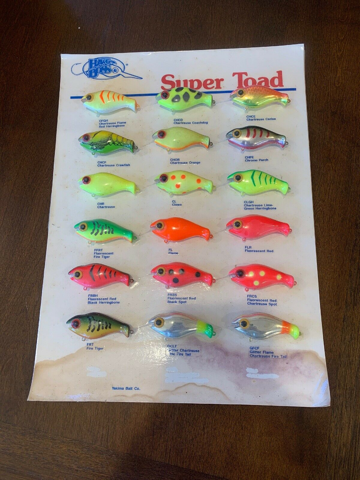 Hawg Boss Super  Toad Dealer Display Card 2002  clients first reputation first