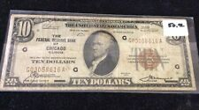 $10 Brown Seal Note From Chicago IL (series 1929)