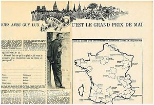 A-Publicite-Advertising-1963-2-pages-Jouez-avec-Guy-Lux-La-course-aux-clochers