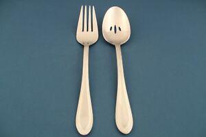 2pc-Serving-Pierced-Spoon-Meat-Fork-Oneida-JOANNE-Stainless