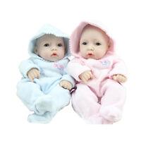 11'' Reborn Baby Doll Girl Boy Full Soft Vinyl Newborn Lifelike Baby Dolls Gifts