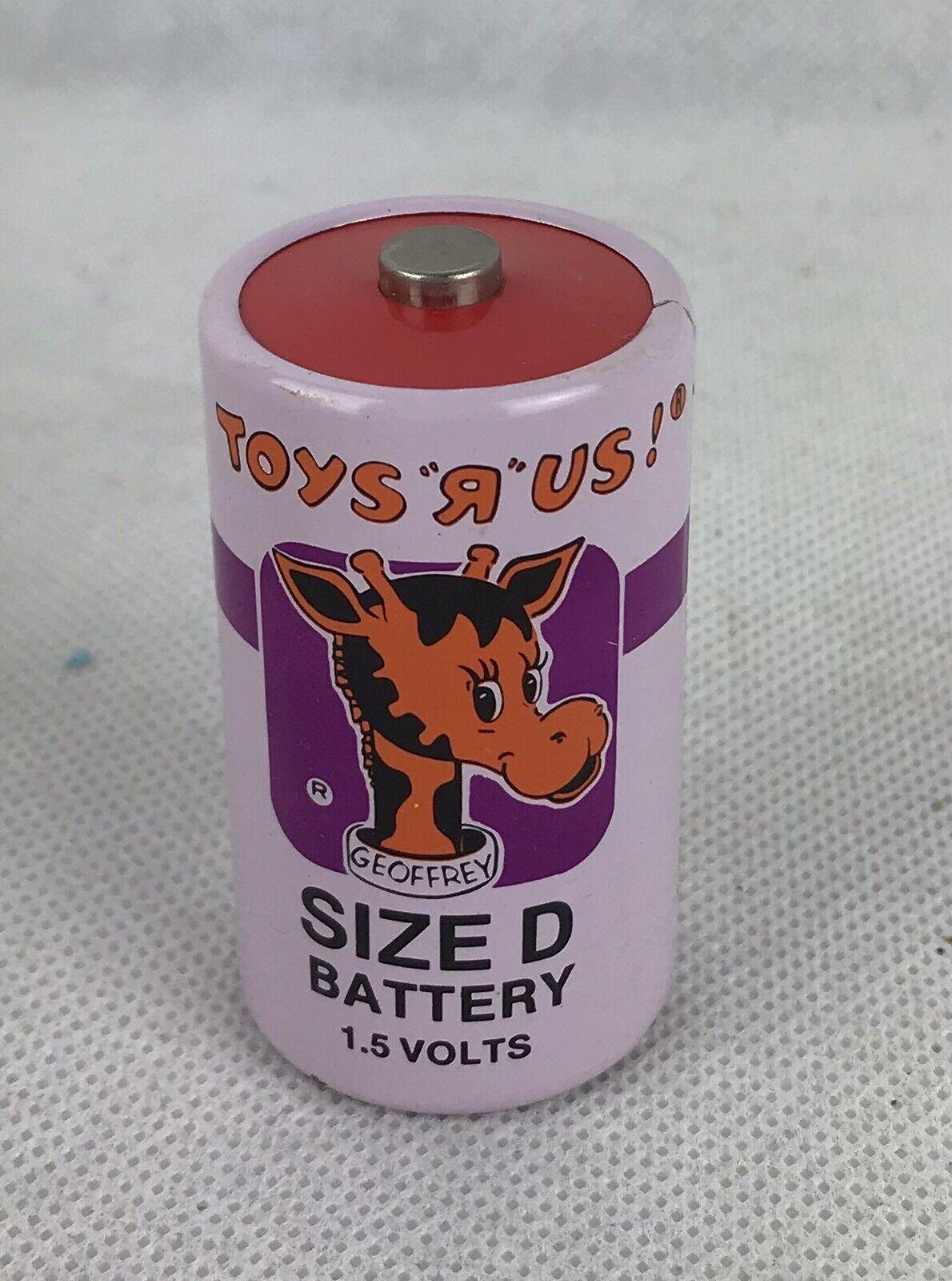 De Colección Toys R Us batería de tamaño D con Geoffrey Jirafa, 70' -80' Usada