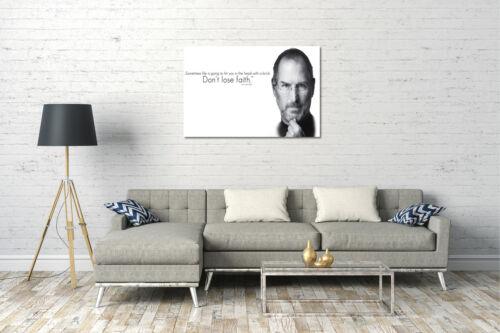 Steve Jobs Lein-Wand-Bild