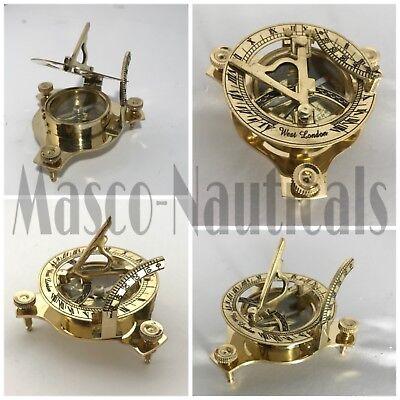 By Masco-Nauticals Nautical Hand-Made Brass Working Sundial Compass