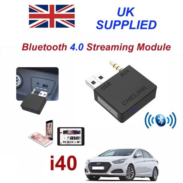para Hyundai i-40 Música Bluetooth Streaming Módulo Galaxy S6 7 8 9 IPHONE 6 7