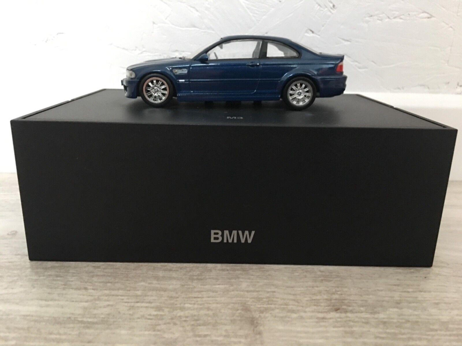 Bmw M3 coupe bleu miniature 1 43 - PROMO