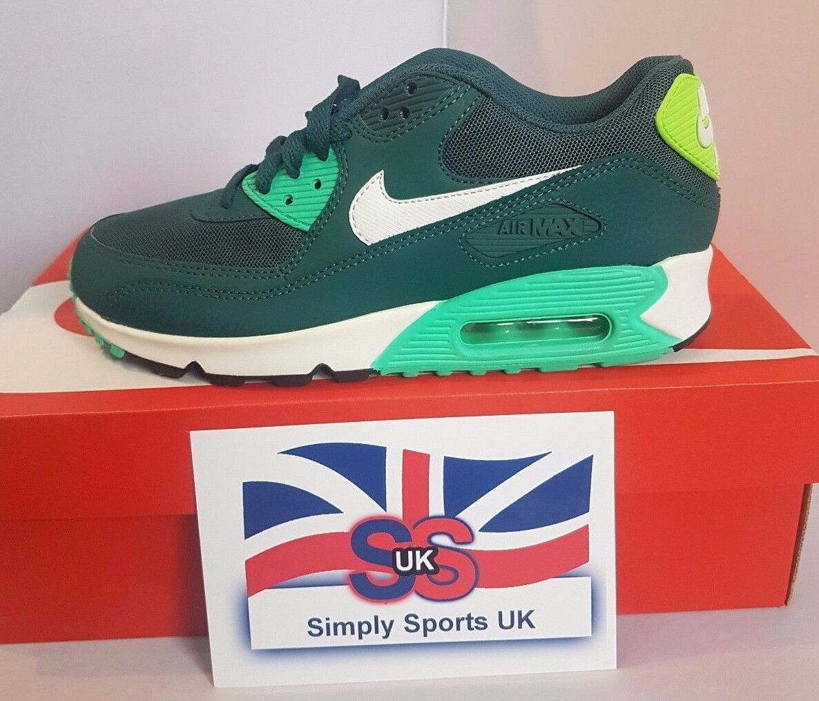 femmes  Air Max 90 Essential Green [616730 300]4.5 US 7 EUR 37.5