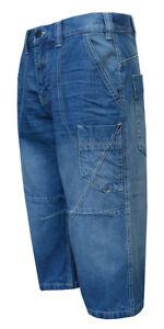 "42/"" New Mens Flat Front Casual Denim Regular Fit Shorts 3//4 Length Pants 32/"""
