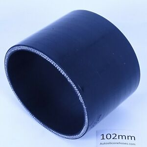 AutoSiliconeHoses 70mm ID Black 50mm Length Straight Silicone Coupling Hose
