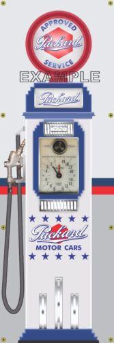 PACKARD OLD TOKHEIM CLOCKFACE GAS PUMP DISPLAY BANNER SIGN MURAL ART 2' X 6'