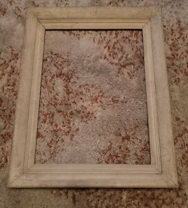 c-1950-039-s-modernist-picture-frame-fit-12-x-16-034-painting-White-rustic-look