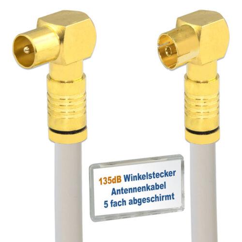 Kabel TV Winkelstecker/</>W-Buchse Kabelanschluss 5 fach geschirmt 135dB Digitales