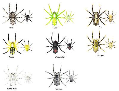 """Lunkerhunt LP SPIDER06 LH Phantom Spider 2/"""" White Wolf for sale online"""