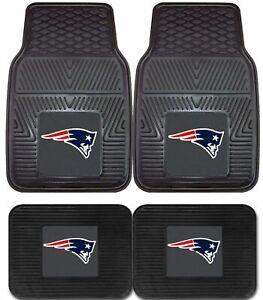 New-England-Patriots-NFL-2pc-and-4pc-Mat-Sets-Heavy-Duty-Cars-Trucks-SUVs