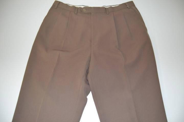 LAUREN RALPH LAUREN BROWN TAN DRESS PANTS MENS SIZE 38 X 29