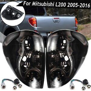 Rueckleuchten-Ruecklicht-Lampen-fuer-Mitsubishi-L200-2005-2016-Mit-Verkabelung-Paar