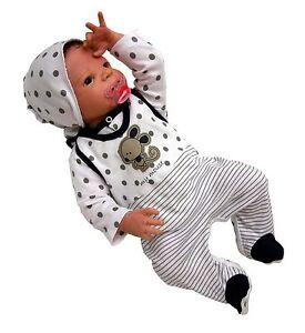 3-tlg Baby Set Strampler Mit Shirt Und Kopftuch Mouse Neu Gr.56,62,68,74 Girls' Clothing (newborn-5t)