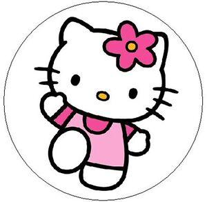Merveilleux Image Is Loading HELLO KITTY W PINK FLOWER 1 034 Sticker