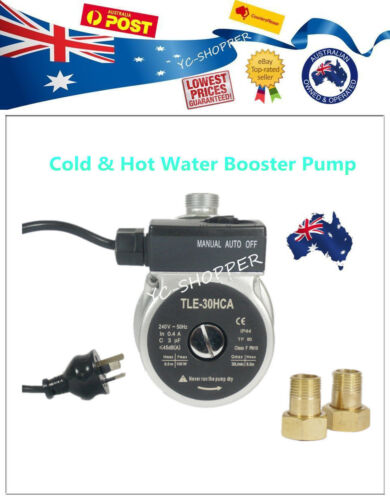 Cold /& Hot Water Pressure Booster Pump Suit Gravity Feed Hot Water System