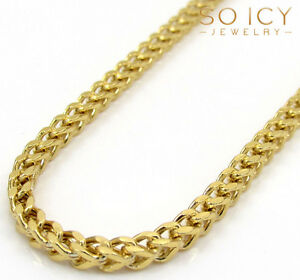 20-32-034-Inch-2mm-10k-Yellow-Gold-Box-Franco-Skinny-Chain-Necklace-Mens