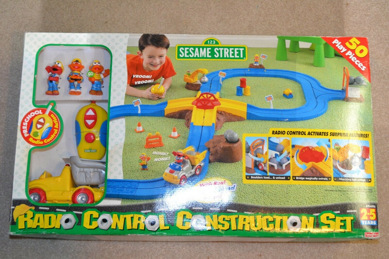 2000 FISHER PRICE SESAME STREET conjunto Radio Control Sellado Gratis Construction enviar