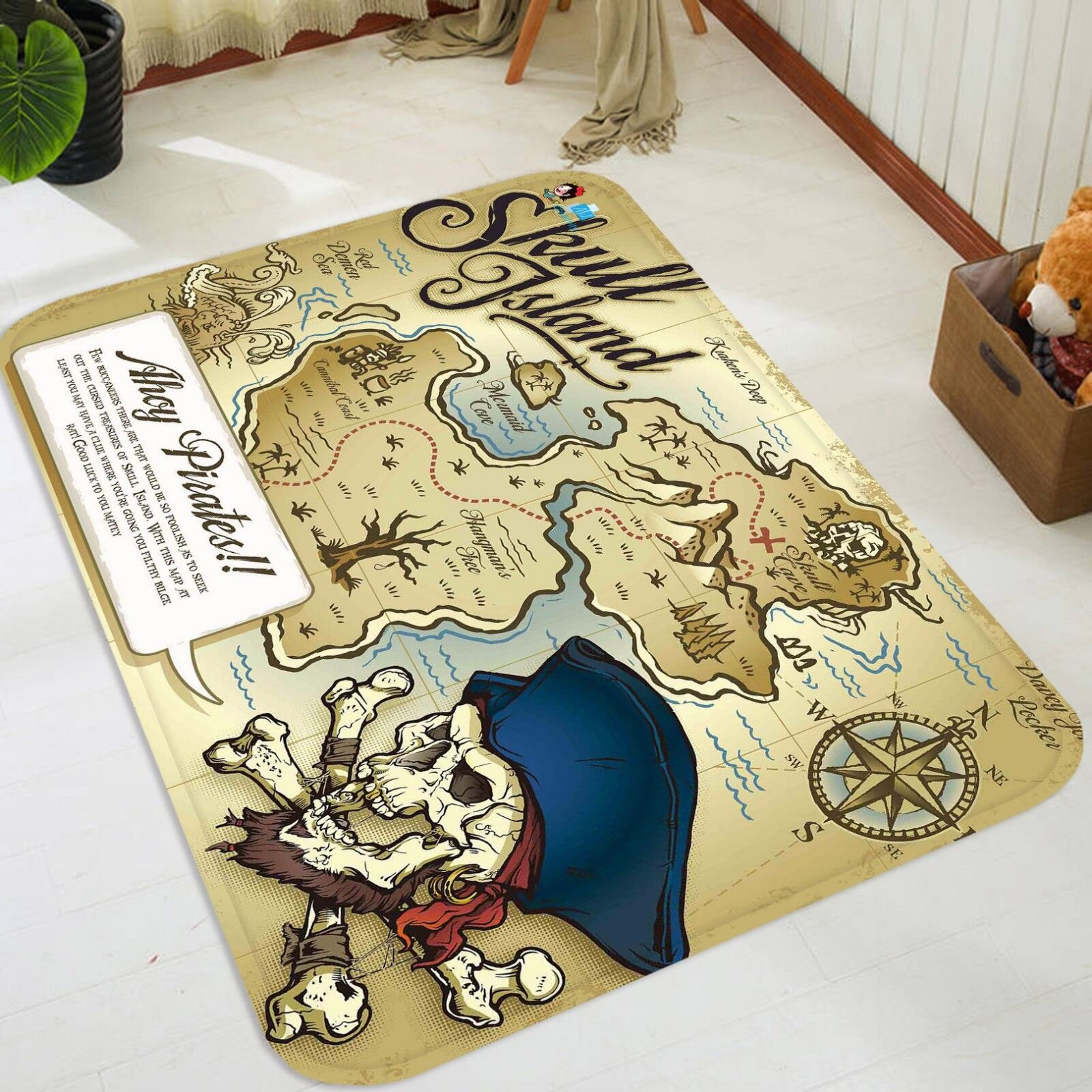 3D Piraten Karten 3 Non-Slip Carpet Mat Mat Mat Quality Elegant Carpet DE Summer d93a7f
