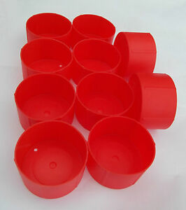 Pack of 10 MDI Protective Plastic Packing Tubes 3in (7.8cm) End Caps
