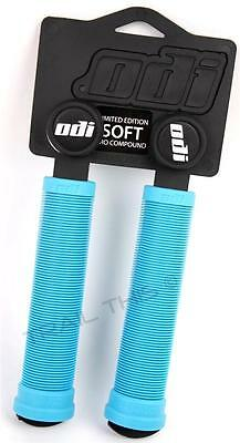 BLUE ODI Soft Flangeless Longneck Grips Softies for BMX Bikes /& Scooters 135mm