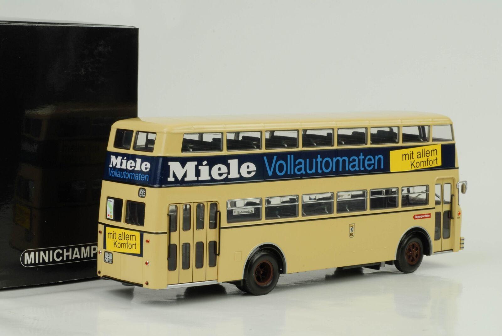 1958 Büssing d2u Bus biplan MIELE 1 43 Minichamps