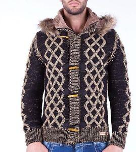Details zu Cardigan jacket mens herren knit Cipo and Baxx