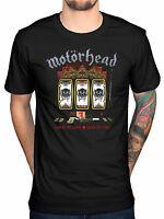 Official Motorhead Slots T-Shirt OverKill Bomber Ace of Spades No Sleep Punk Roc