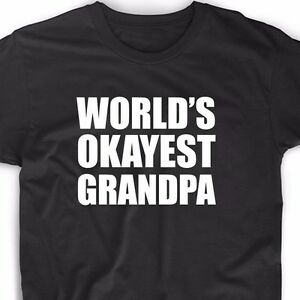 Image Is Loading World 039 S Okayest Grandpa T Shirt Birthday