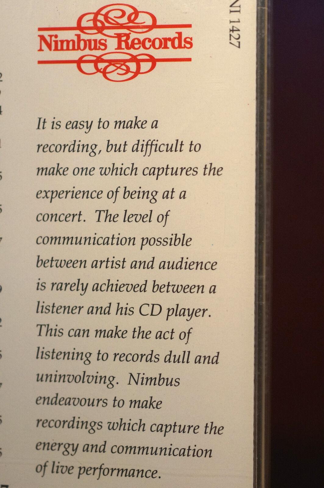 Nimbus Sampler Volume 3 With 76 Mins Compilation Audiophile MINT