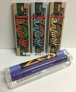 3x Packs Hempire King Size Hemp Cigarette Rolling Papers