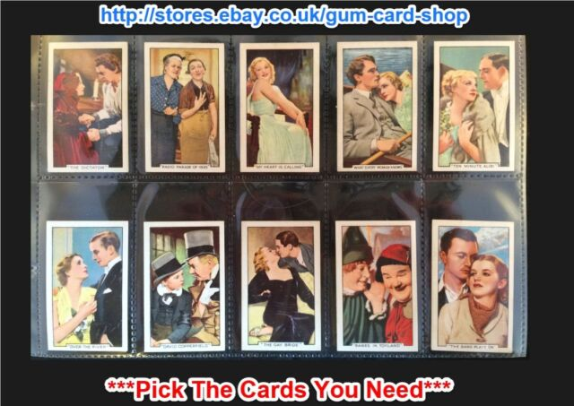 GALLAHER - FAMOUS FILM SCENES 1935 (G) ***PICK THE CARDS YOU NEED***