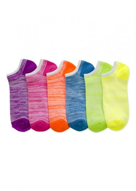 New Ankle Low Cut 6 Pairs Ladies Women No Show Short Colors Socks 6-8 Gift