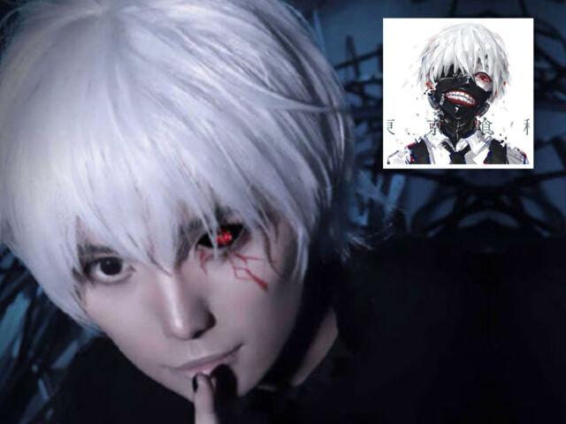 Tokyo Ghoul Anime Kaneki White Eye Patch Cosplay Costume US Seller