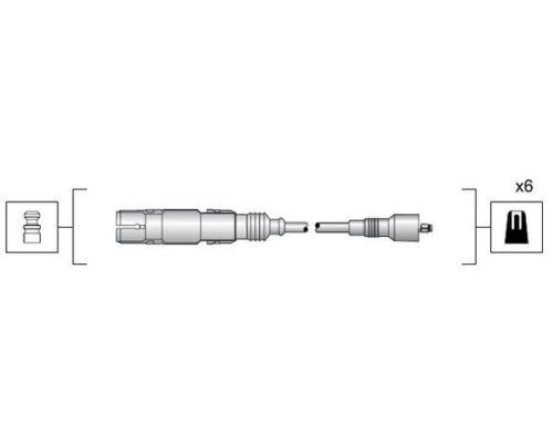 2.4 2.8 a8 2.8 Zündleitung Set di cavo di accensione Audi 100 2.6 2.8 80 2.6 2.8 a4 b5