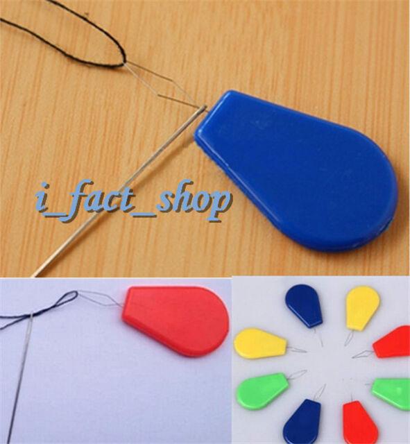 12pcs Needle Threader Bow Wire Thread Plastic Sewing Machine Insert Craft Tool