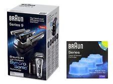 Braun 9095cc Wet & Dry Rasoio Elettrico+Sistema Di Pulizia+Extra CCR3 Ricarica