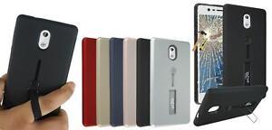 Para-Nokia-3-New-Genuino-Cristal-Templado-Gel-TPU-Anillo-Base-Funda-de
