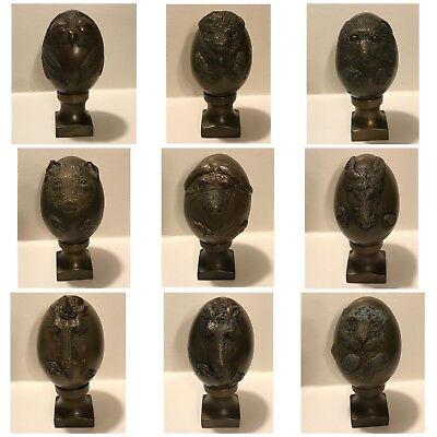 Wählen Sie Ihre Radient Vintage Massiv Bronze Tier Ei Kunst Sculptures Von Bristar Luftfahrt & Zeppelin