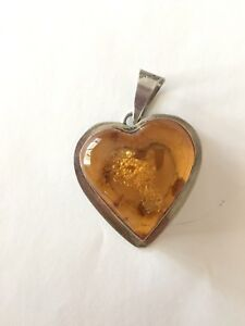 Heart-Shaped-Amber-Pendant-Sterling-Silver