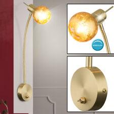 Flur Treppenhaus Beleuchtung Wand Spot Leuchte gold farben Lampe Alabaster Glas