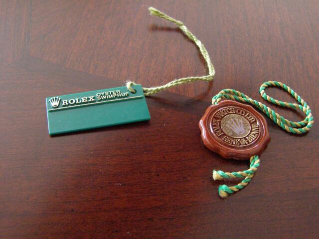 Vintage 90s Genuine Rolex 1st Gen Hologram Tag Set for Sub Sea-Dweller GMT etc