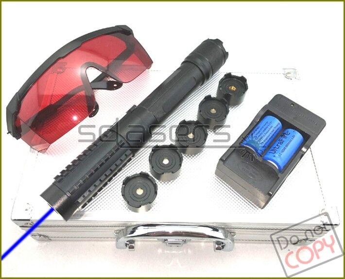 Thor láser B820 450nm lápiz puntero láser azul de Enfoque Ajustable + Envoltorio