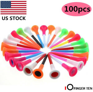 Plastic-Golf-Tees-100-Pcs-Rubber-Cushion-Top-Multi-colored-Pro-2-3-4-034-3-1-4-034