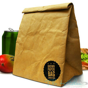 Image is loading Luckies-Brown-Paper-Lunch-Bag-Retro-American-Style-  sc 1 st  eBay & Luckies Brown Paper Lunch Bag Retro American Style Reusable Pached ... Aboutintivar.Com