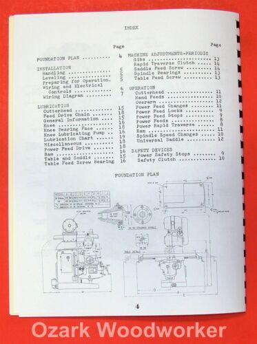 Business & Industrial VAN NORMAN 38 Milling Machine Instructions ...